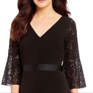 Calvin Klein Bell Sleeve Gown